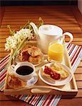 Kontinentales Frühstück Tablett
