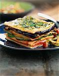 Saumon et légume grillé mille-feuille
