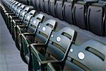 Empty folding seats