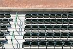 Empty stadium seats, overhead view