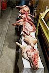 Schweinefleisch Beine im Schlachthof