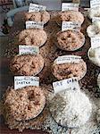 Assorted rice varieties in market, India