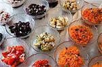 Variety of vegetable salads