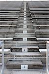 Empty stadium bleachers