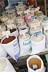Vietnam, assorted varieties of rice in market