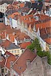 Aerial View of Bruges, Brugge, Flanders, Belgium, UNESCO World Heritage Site