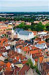 Europe, Belgium, Flanders, Bruges, aerial view of Bruges, old town, Unesco World Heritage Site