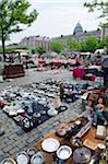 Europe, Belgium, Brussels, Place du Jeu de Balle flea market