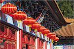 Lanterns at Western Monastery, Tsuen Wan, New Territories, Hong Kong, China
