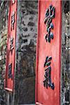Detail on doorway in Lo Wai village, Fanling, New Territories, Hong Kong, China