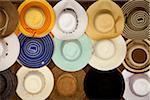 Croatia, Split, Central Europe. Hats for sale at a souvenir outlet