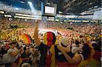 Europa, Deutschland, Westfalen, Nord-Rheinland, Köln, WM-Fußball-Fans bei public-Viewing in der Lanxess Arena