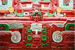 Central America, Honduras, Copan Ruins, Rosalila temple replica, Museum of Sculpture at Mayan archeological site, Unesco World Heritage site