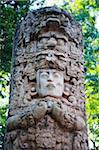 Central America, Honduras, Tegucigalpa (capital city), Mayan statue in La Concordia Park