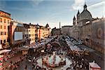 Piazza Navona, christmas fair, Rome, Lazio, Italy, Europe.