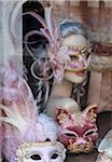 Venetian masks, Venice, Veneto region, Italy