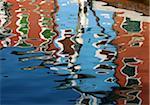 Canal reflections, Burano, Veneto region, Italy