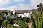 Ancienne capitale de Fuerteventura Betancuria se trouve dans une vallée pittoresque depuis le XVe siècle. Îles Canaries