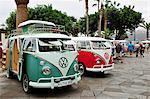 Volkswagens in Puerto de la Cruz. Tenerife, Canary islands