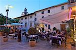 Restaurant in Teh Altstadt von Alcudia, Mallorca, Balearen, Spanien