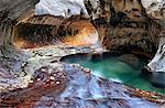 Aux États-Unis, Utah, Zion National Park, le métro