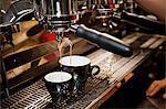 Barista making a latte