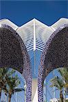 L ' Umbracle, die Stadt der Künste und Wissenschaften, Valencia, Spanien. Architekten: Santiago Calatrava