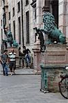 Lions outside the Residenz, Odeonsplatz, Munich