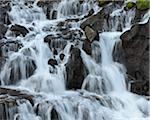 Hraunfossar Waterfall, Borgarfjordur, Vesturland, Iceland
