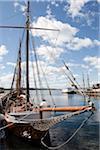 Grand voilier dans le port, Oslo, Norvège