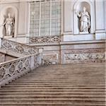 Treppe am Königspalast von Neapel, Neapel, Campania, Italien