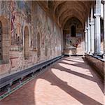 Santa Chiara Cloister, Naples, Campania, Italy