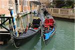 Gondolas on Canal, Venice, Veneto, Italy
