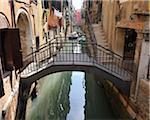 Bridge over Canal, Venice, Veneto, Italy, Europe