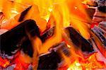 Vue rapprochée des flammes de feu