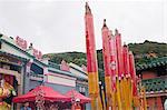 Celebrating Tin Hau festival at the Big Temple, Joss House Bay, Hong Kong