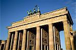 Porte de Brandebourg à la Pariser Platz, Berlin, Allemagne, Europe