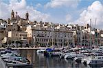 Senglea harbour, Malta, Méditerranée, Europe