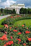 Volksgarten and Burgtheater, Vienna, Austria, Europe