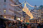 Christmas decoration at Graben, Vienna, Austria, Europe
