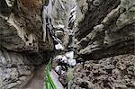 Canyon Breitachklamm en hiver, Oberstdorf, Alpes d'Allgäu, Bavière, Allemagne, Europe