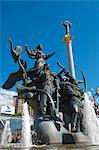 Die Gründer von Kiew, Independence Square, Kiew, Ukraine, Europa-Denkmal