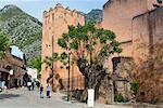 Alkasaba entrance, Chefchaouen (Chaouen), Tangeri-Tetouan Region, Rif Mountains, Morocco, North Africa, Africa
