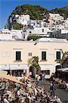 Piazza Umberto, ville de Capri, île de Capri, baie de Naples, Campanie, Italie, Europe