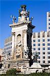 Placa d'Espanya Monument in Montjuic District, Barcelona, Catalonia, Spain, Europe