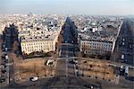 Avenue de Wagram from the top of the Arc de Triomphe, Paris, France, Europe