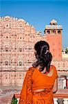 Hawa Mahal (Palace of the Winds), built in 1799, Jaipur, Rajasthan, India, Asia