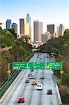 Pasadena Freeway (autoroute de CA 110) menant à Downtown Los Angeles, Californie, États-Unis d'Amérique, Amérique du Nord
