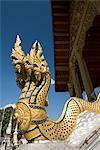 Naga heads, Wat Nong, Luang Prabang, Laos, Indochina, Southeast Asia, Asia