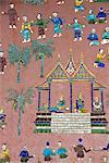 Mirror mosaics, Reclining Buddha Shrine (Red Chapel), Wat Xieng Thong, UNESCO World Heritage Site, Luang Prabang, Laos, Indochina, Southeast Asia, Asia